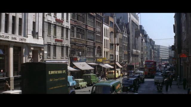 1962 london - fleet street - fleet street stock videos & royalty-free footage