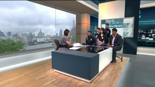 london football club which uses sport to tackle youth radicalisation meets the pope england london gir int samil mohammad live studio interview sot - youth club stock videos & royalty-free footage