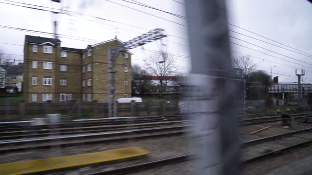 london from commuter train - cinematography stock videos & royalty-free footage