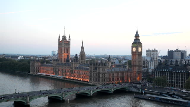 london from the air - big ben stock videos & royalty-free footage