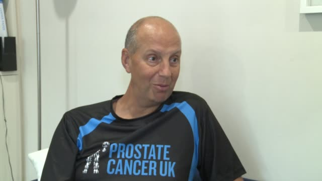 Kevin Webber raises money for charity after prostate cancer diagnosis ENGLAND London INT Kevin Webber interview SOT