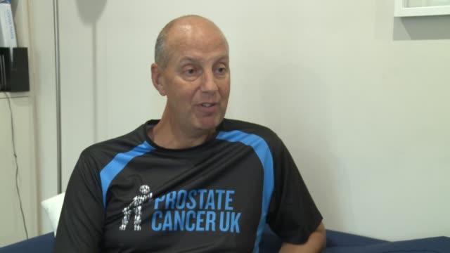 Kevin Webber raises money for charity after prostate cancer diagnosis ENGLAND London Kevin Webber interview SOT