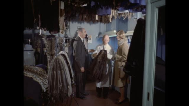 1961 - London - fur coat workshop