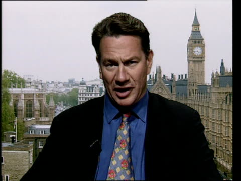 london gir: 2 way ex westminster int michael portillo mp interview sot - says they will save forty million pounds on bureaucracy by getting rid of... - bureaucracy stock videos & royalty-free footage