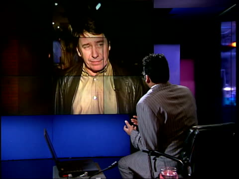 ex london: ext/night jools holland interviewed sot - he was always listening to something new, had dry sense of humour, loved music - most important... - krishnan guru murthy stock videos & royalty-free footage