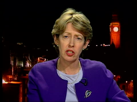 London GIR ex Westminster INT Patricia Hewitt MP interviewed SOT We've backed this matter by referring it to the WTO / We'll be working with Europe...