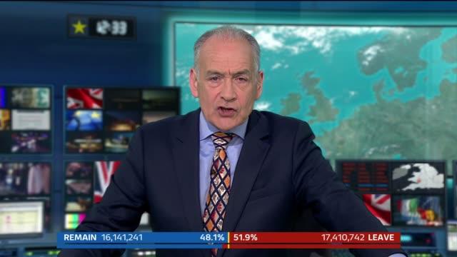vídeos de stock e filmes b-roll de london: gir: int alastair stewart sot split screen alastair stewart / peter smith in edinburgh scotland: edinburgh: ext peter smith sot - alastair stewart