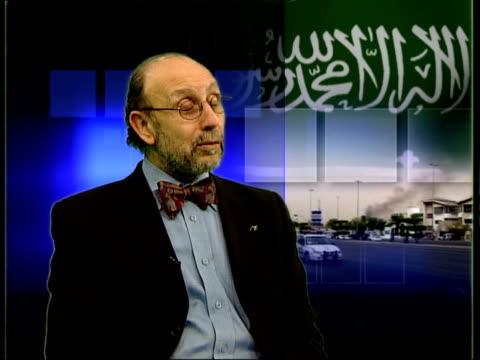 vídeos y material grabado en eventos de stock de london gir adel darwish interview sot talks of islamic fundamentalists in saudi arabia - jeddah