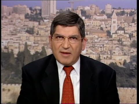 london gir int gideon meir interviewed sot these promises are as old as the conflict we hear that palestinians are going to crack down on terrorist... - haifa video stock e b–roll