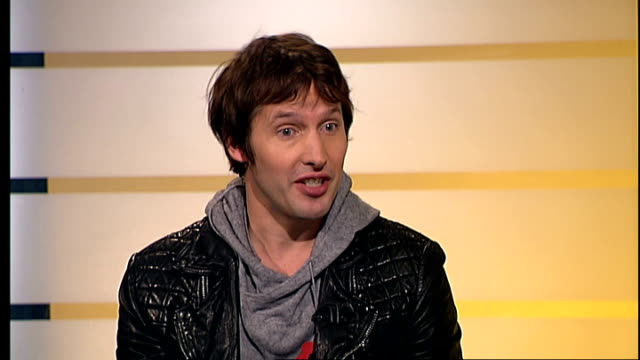 london gir int james blunt live studio interview sot on his support for british troops / on his new single - nina hossain video stock e b–roll