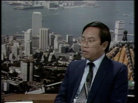 London GIR INT MS Joseph Cheng LIVE 2WAY interview SOTVIDEO ex ENG/LIB/2 WAY HONG KONG TX