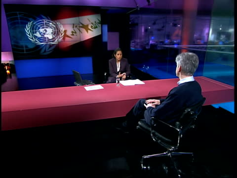 london gir int mike o'brien mp interviewed sot still believe we can get resolution conscious there needs to be discussion / it's important we also... - saddam hussein stock videos and b-roll footage
