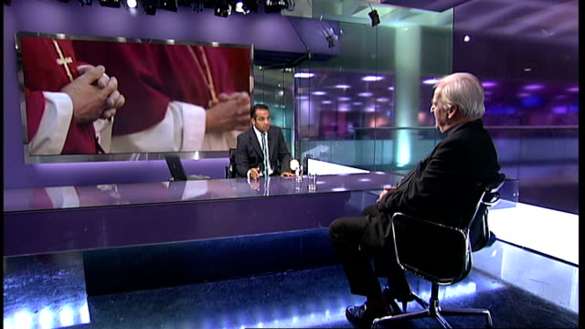 right reverend john broadhurst studio interview sot - on church of england's stance on women priests and bishops - view of rowan williams, liberal... - anglican stock videos & royalty-free footage