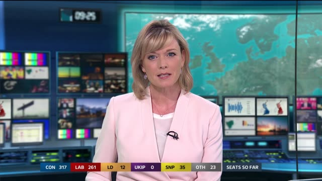 special 0925 1015 england london gir int studio julie etchingham introduction/ ext gv 10 downing street - general election stock videos & royalty-free footage