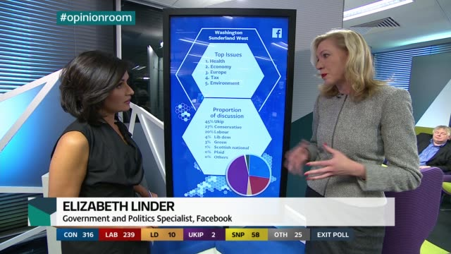 london: gir: studio lord o'donnell interview on situation being easier if the exit poll is correct and what it takes to form a government sot opinion... - david blunkett stock videos & royalty-free footage