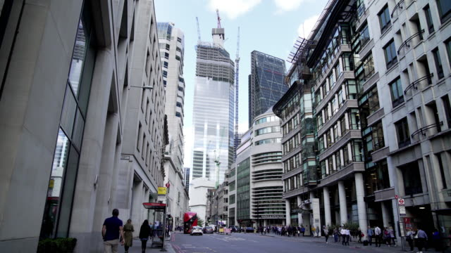 london gracechurch street and 22 bishopsgate skyscraper - city of london stock videos & royalty-free footage