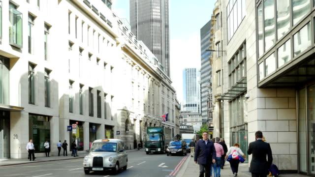 ロンドン gracechurch street (4 k uhd /、hd ) - 歩道点の映像素材/bロール