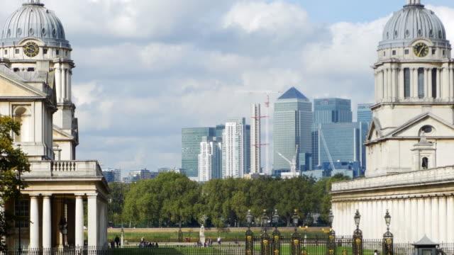 London-Greenwich und Skyline von Canary Wharf