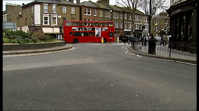 london hackney ext general view of roundabout near victoria park where cyclist died in collision with lorry flowers left at scene of accident message... - victoria park london stock videos & royalty-free footage