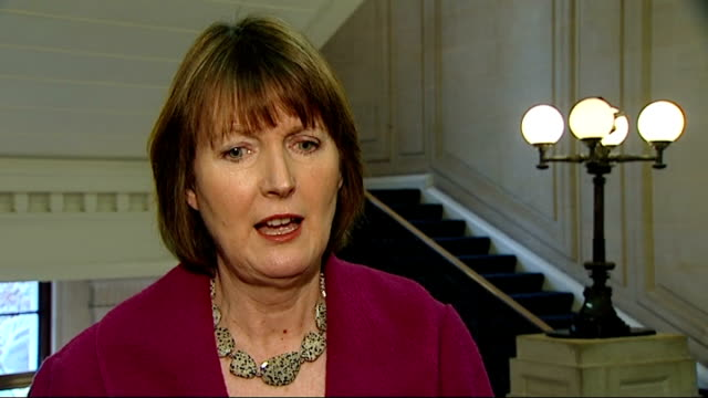 harriet harman mp set-up shot with reporter / interview sot - it's objectionable, the idea that he would shove staff / these are anonymous rumours /... - gossip stock videos & royalty-free footage