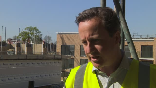 london harrow ext david cameron interview sot well we need to build more good flats and more good houses the london economy is strong there are half... - ニナ・ホサイン点の映像素材/bロール