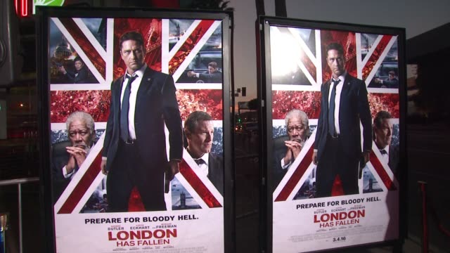 atmosphere london has fallen los angeles screening presented by gramercy pictures at arclight cinemas cinerama dome on march 1 2016 in hollywood... - cinerama dome hollywood stock videos and b-roll footage