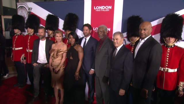 clean london has fallen los angeles screening presented by gramercy pictures at arclight cinemas cinerama dome on march 1 2016 in hollywood california - cinerama dome hollywood stock videos and b-roll footage