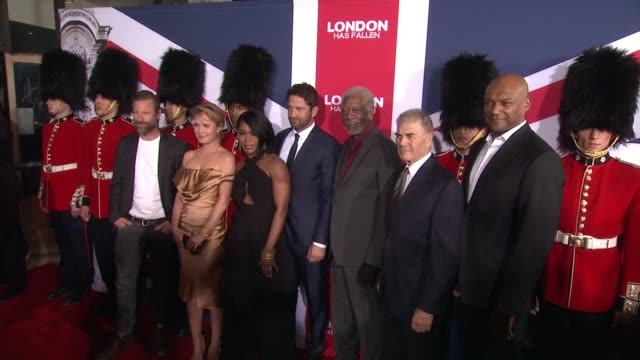 chyron london has fallen los angeles screening presented by gramercy pictures at arclight cinemas cinerama dome on march 1 2016 in hollywood... - cinerama dome hollywood stock videos and b-roll footage