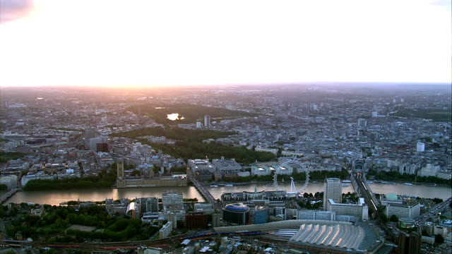 London HD Aerial at Sunset