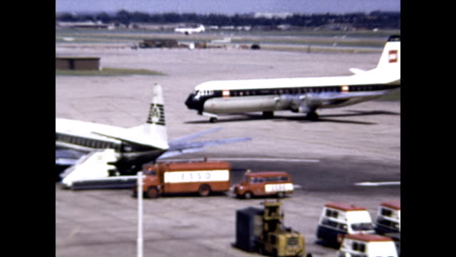 london heathrow airport with construction views 1965 archival - fossil fuel stock videos & royalty-free footage