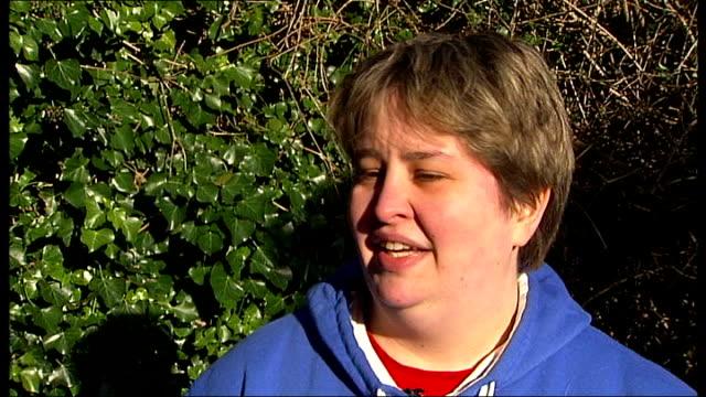london helicopter crash: second victim named as matthew wood; amanda wood talking to reporter in garden / interview sot - on matthew wood's nephew... - 甥点の映像素材/bロール