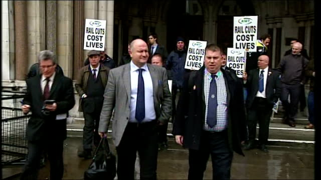 London High Court Bob Crow out of High Court and apeaking to press SOT we will be recommending a further ballot/ just a temporary halt to the...