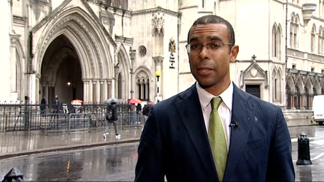 london high court reporter to camera mosley arriving at court with legal team duncan lamont interview sot - news of the world stock videos & royalty-free footage