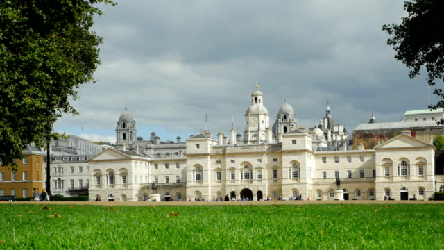 london horse guards building from st. james's park - millennium wheel stock videos and b-roll footage