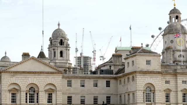 london horse guards building rooftop - horse bit stock videos and b-roll footage
