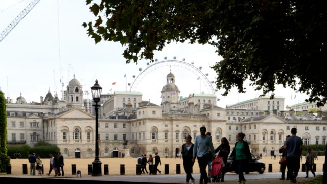 london horse guards building viewed from st. james's park - horse bit stock videos and b-roll footage
