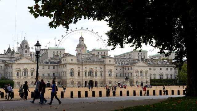 london horse guards building viewed from st. james's park - whitehall london stock videos & royalty-free footage