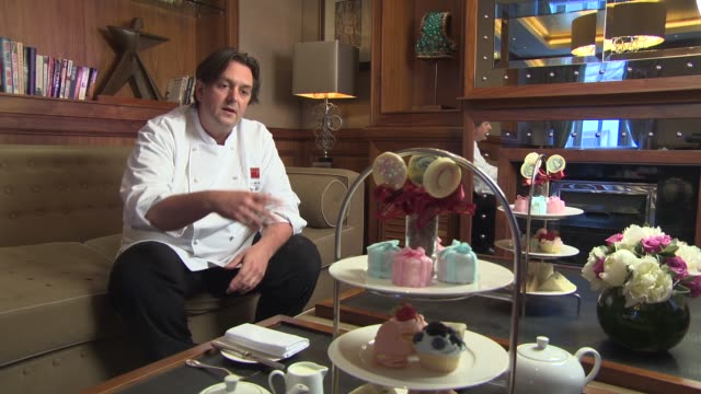 """london hotel creates """"the royal"""" baby shower afternoon tea on july 12, 2013 in london, england - baby shower video stock e b–roll"""