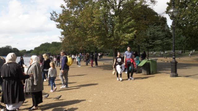 london hyde park and the serpentine lake - the serpentine london stock videos & royalty-free footage