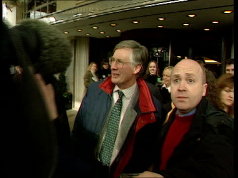 london hyde park cms side michael meacher mp along as questioned by press as he replies doesn't mean i've done uturn on any issues strand savoy hotel... - will.i.am stock videos and b-roll footage