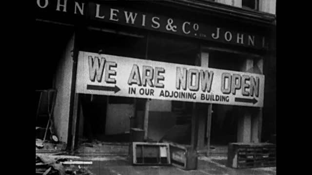 london in ruines after luftwaffe bombing raid - world war ii stock videos & royalty-free footage