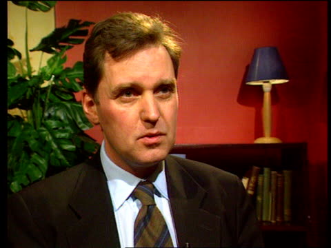 london int alan milburn mp interview sot talks about comments made by lord winston and government plans to improve the nhs order ref t14010001 - nhs stock videos & royalty-free footage