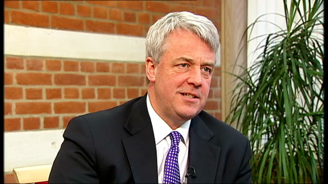 andrew lansley mp interview sot - to borrow an ad..its about time we stopped just telling people they ought to be healthy, we really need to help... - daily mail stock videos & royalty-free footage