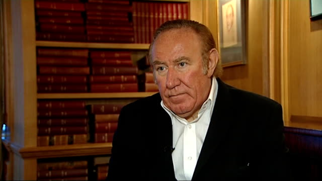 vídeos de stock, filmes e b-roll de london int andrew neil interview sot - andrew neil