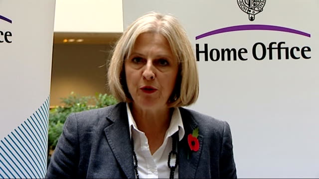 stockvideo's en b-roll-footage met theresa may mp statement to press sot - earlier today i chaired a meeting with cobra to review the progress of our investigation following the... - voorzitter