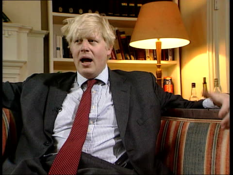 int boris johnson interviewed sot government is becoming out of touch with what people are doing have some perfectly respectable neighbours good... - boris johnson stock videos and b-roll footage