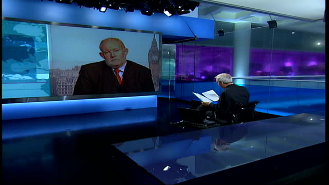 charles clarke mp live 2-way interview from westminster sot - the home office is responsible / over a period of years there wasn't sufficient... - charles clarke uk politician stock videos & royalty-free footage