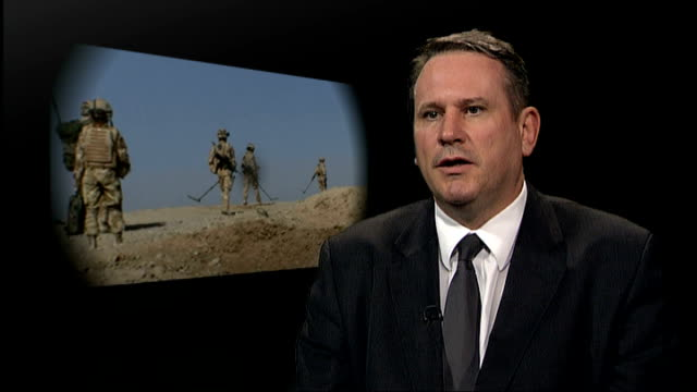 london int colonel richard kemp interview sot saying taliban clever and resourceful in developing technology with regard to ieds - resourceful stock videos & royalty-free footage