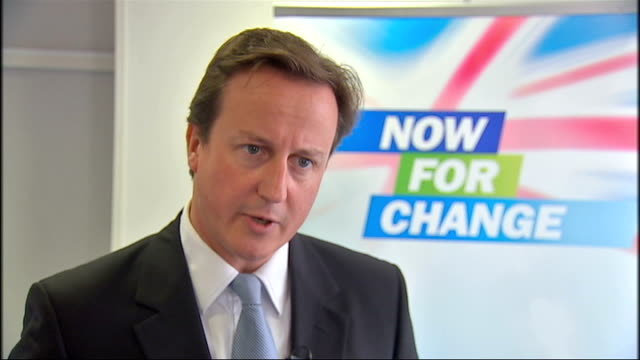 london int david cameron mp interview sot used to worry about borrowing 16 billion in a year under this government we are borrowing it in one month/... - borrowing stock videos & royalty-free footage