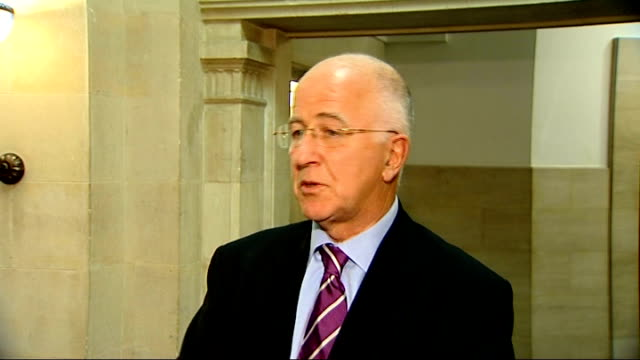 london int denis macshane mp interview sot if it does happen it's good that britain has a big voice at the heart of the world's biggest market - big mac stock videos and b-roll footage